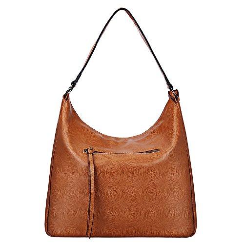 Hobo Bag S Shoulder Genuine Large Tote ZONE Crossbody Bag Women's Bag Satchel Handbag Brown Leather XYRXxq
