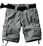 Match Men's Comfort Cargo Short (Label size 4XL/40 (US 38), 3611 Grayish green)