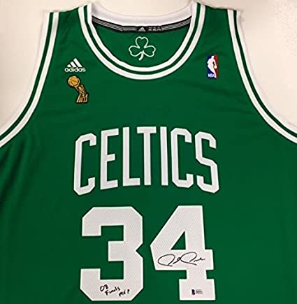 19b594e54 PAUL PIERCE quot Finals MVP quot  Signed 2008 Celtics Swingman Jersey ~  Beckett BAS COA -