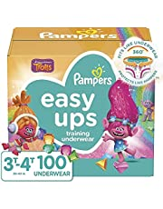 Pampers Potty Training Underwear for Toddlers, Easy Ups Diapers, Pull Up Training Pants for Girls and Boys, Size 5 (3T-4T), 100 Count, Giant Pack (Packaging May Vary)