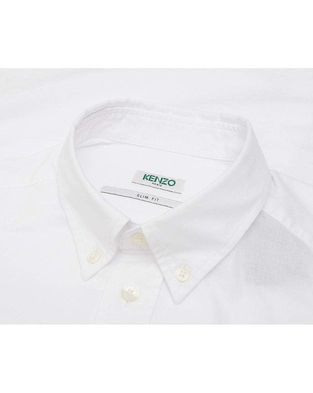 ceae1949 Kenzo Mens Eye Crest Slim Fit White Shirt at Amazon Men's Clothing store: