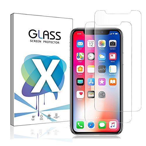 iPhone X Screen Protector, RuGbie£Û2-Pack£ÝiPhone X Tempered Glass Film Screen Protectors [3D Touch] 0.26mm Screen Protector Glass for Apple iPhone X 2017 Work with Most case