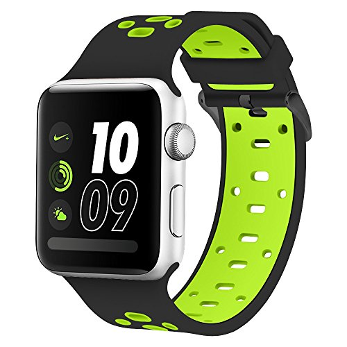 Compatible Apple Watch Band 42mm/ 44mm, Alritz Silicone Sport Strap Replacement for Apple Watch Series 4/Series 3/Series 2/Series 1/Nike+