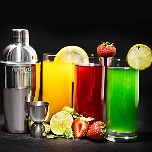 Home Cocktail Bar Set by Naava – Stainless Steel 10 Piece Mixology Tool Kit – With Bartender's Professional Shaker, Strainer, Jigger, Liquor Pourers and More – Attractive Gift Box and 100% Guarantee by Naava (Image #7)
