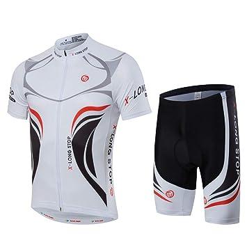 Hombres Ciclismo Jerseys Trajes rápido seco Transpirable ...