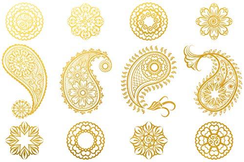 Ceramic Decals - Overglaze Gold - Enamel Decal - Waterslide Decal Gold Paisley