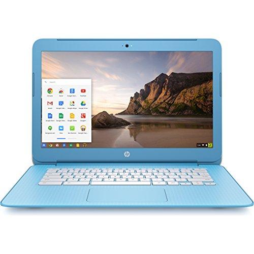 HP Chromebook 14-inch Laptop, Intel Celeron N2840, 4GB RAM, 16GB eMMC, Chrome (14-ak030nr, Blue/White)