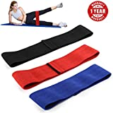 EZT3D Resistance Bands for Legs and Butt Exercise Bands Hip Booty Bands Workout Bands Anti Slip Hip Fitness Bands 3 Size Non Rolling Peach Bands for Body Stretching,Yoga,Pilates,Muscle Training