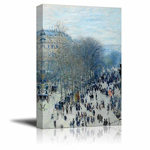 Boulevard des Capucines by Claude Monet Print Famous Painting Reproduction
