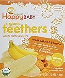 Happy Baby Organic Banana and Sweet Potato Teethers, 1.7 Ounce - 6 per case.