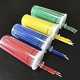 Dental Lab Long Disposable Micro Applicators Brushes Dental Brush (400PCS 4 Color)