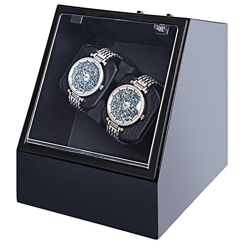 jianbo Automatic Watch Winder Watch Display Storage Organizer Watches Case Auto Silent Watch Winder Transparent Cover Wristwatch Boxes , 3 by L@YC