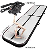 FBSPORT Airtrick Inflatable Gymnastics Air Mat 13ft Length Air Track Tumbling Mat with Electric Air Pump for Kids/Exercise/Training/Home/Park