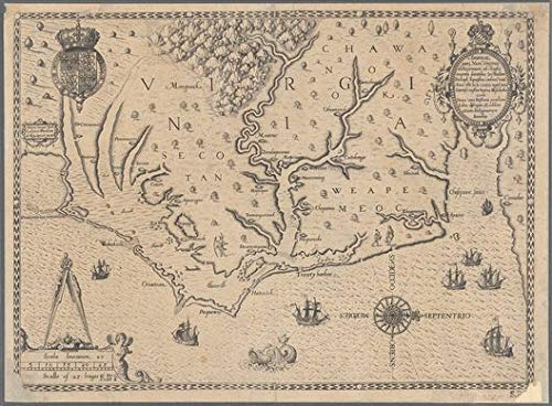 Vintography Reprinted 18 x 24 1590 Map of Franckfort Map No. from San Francisco Bay to The Northern Boundary of California Ihon Wechel 0 0 31a