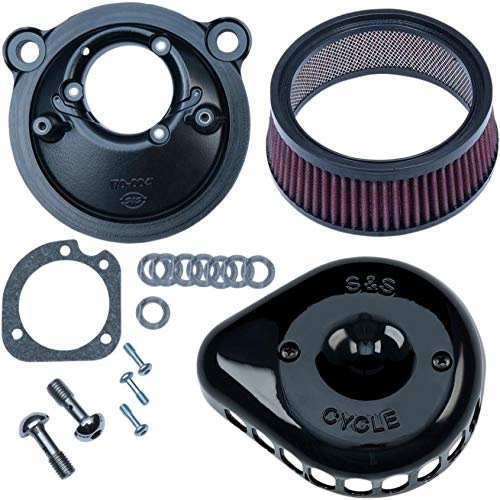 S&S Cycle 170-0440A Mini Teardrop Stealth Air Cleaner Kit - Gloss Black