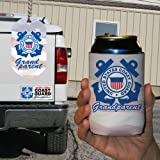 Military Branch - U.S. Coast Guard Grandparents 3 Piece Gift Set - Bumper Magnet, Dog Tag, and Can Cooler