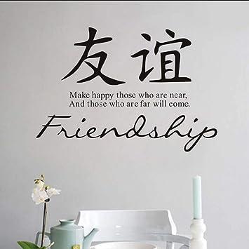 Makeyong Caligrafía China Amistad Tatuajes De Pared De Vinilo ...