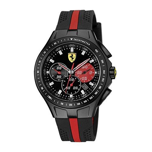 Ferrari Mens 0830023 Race Day Analog Display Quartz Black Watch