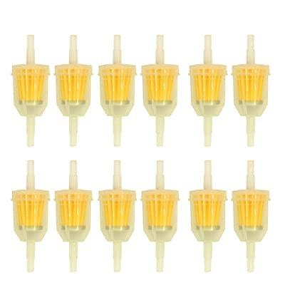 HOOAI 12pcs Plastic Inline Gas/Fuel Filter 6MM-8MM 1/4 Small Engine: Garden & Outdoor