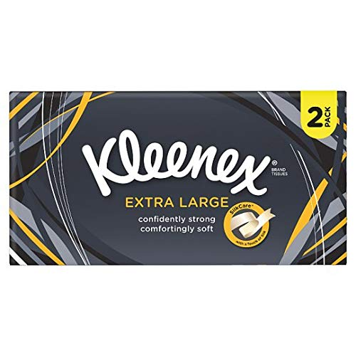Kleenex Mansize White Tissues Twin Pack 2 x 100 per pack (PACK OF 4)