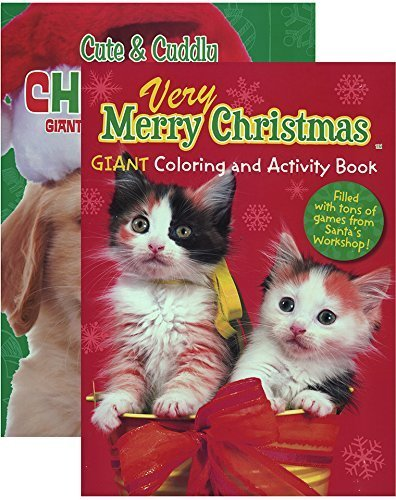 amazon com puppies and kittens christmas coloring book 48 pcs sku