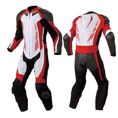 Amazon.com: Traje de carreras para motocicleta, color rojo ...