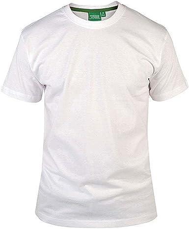 D555 Hombre Nuevo Premium Peso Algodón Peinado Tamaño King Camiseta Cuello en Pico Blanco: Amazon.es: Ropa y accesorios