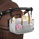 WDDH Baby Diaper Caddy Organizer,Portable Felt Bag Nursery Diaper Tote Bag for Storage Bins,Changing Table, Basket, Newborn Registry Must Have