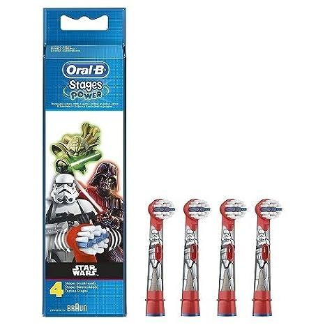 Oral-B Cabezales de Recambio para Cepillo de Dientes Eléctrico de Star Wars  x4  Braun  Amazon.es  Salud y cuidado personal 761b654f94f1
