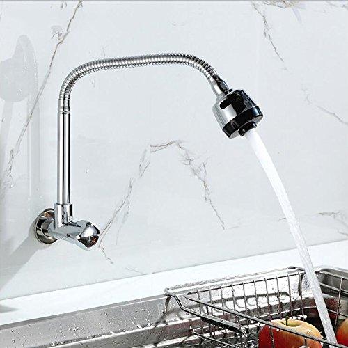 Kitchen Tap Faucet Contemporary Kitchen Sink Basin Mixer Tap 360°Rotation Nozzle Single Cold Kitchen Sink Taps Faucet