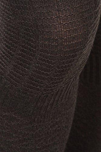 Iconoflash Kvinners Ribbede Over Kneet Støvelen Sokk Med Grafiske Detaljer, Størrelse  9-11 Trekull