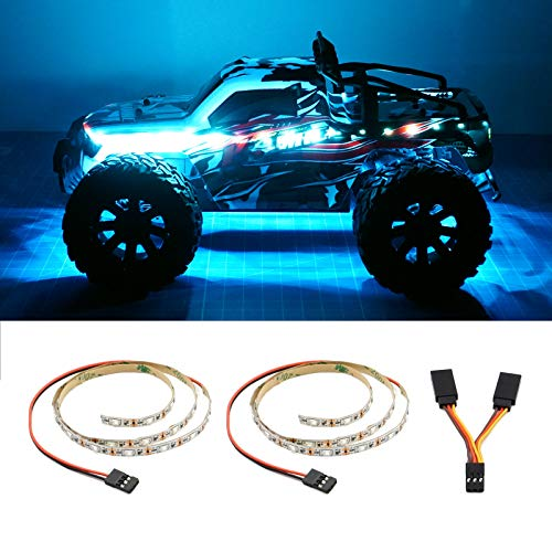 LED Light Strip for RC Fixed Wing Airplane Flying Wing Plane AR Wing Drone Model Car Truck (Ice Blue) (Color: Ice Blue)