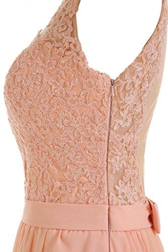 Toskana Braut - Elegante vestido largo de noche sin mangas, de gasa Beige Rosa