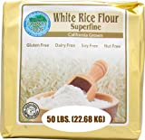 Authentic Foods Superfine White Rice Flour, 50 Pound