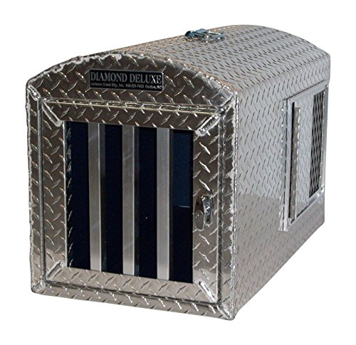 Diamond Deluxe~Aluminum Single Hole Dog Box, Dog Crate, Dog Carrier, Dog House - medium (Handle Hollow Deluxe)