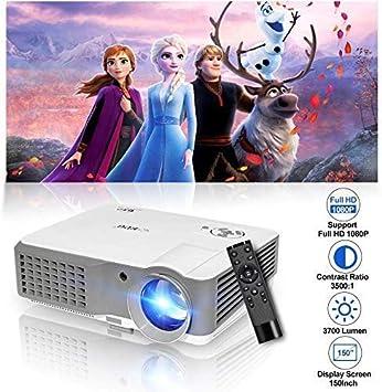 Proyector de Video WIKISH 3800 lúmenes 1080 P Soporte Full HD ...