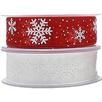 NUOBESTY papel de regalo cinta navidad malla copo