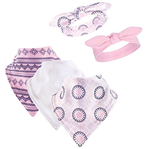 Yoga Sprout Baby Bandana Bib & Accessory Set, 5 Piece, Ornamental, 0-9 Months