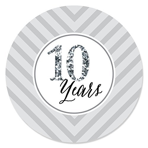 Big Dot of Happiness We Still Do - 10th Wedding Anniversary - Party Circle Sticker Labels - 24 Count]()