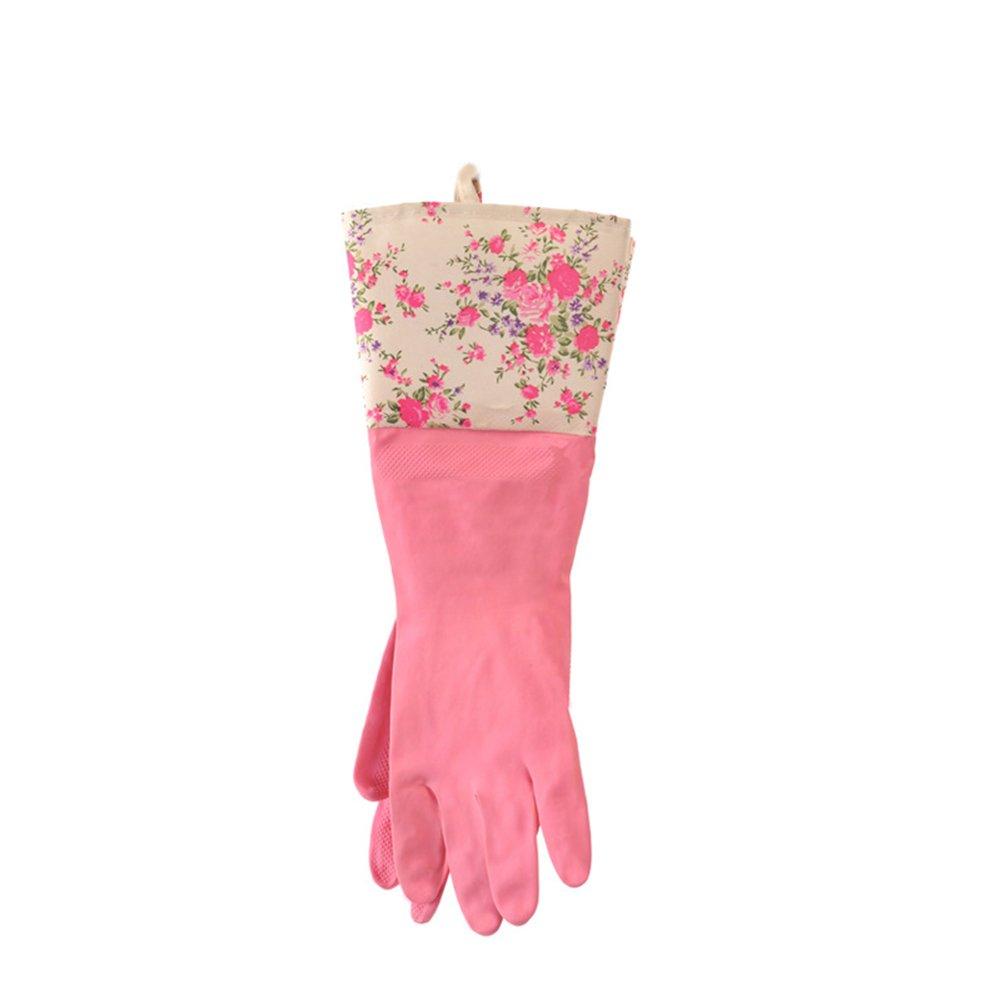 Hustar Blumen Küche Latexhandschuhe Schutzhandschuhe Haushaltshandschuhe Wiederverwendbar Reinigung Handschuhe
