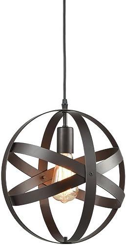 Truelite Industrial Metal Spherical Pendant Displays Changeable Hanging Lighting Fixture