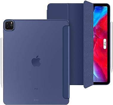 Aidashine Funda para iPad Pro 11 2020, Estuche Delgado Inteligente con Reposo/activación automático, contraportada Suave Transparente, [Admite Carga inalámbrica Apple Pencil 2],Azul: Amazon.es: Electrónica