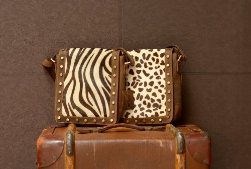 Zebra Real Leather Print Body Cross Animal Bag Messenger Print rrTq0dw