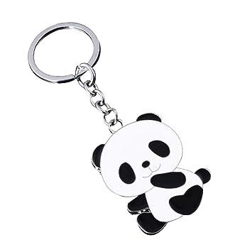 JUNGEN Llavero de Panda Llavero de Aleación para Decoración ...