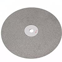 Drilax 8 inch Grit 100 Professional Quality High Density Diamond Coated Flat Lap Lapping Lapidary Wheel Disc Glass Jewelry Polishing Tool Grinding Sharpening Metal Back 1/2 Arbor (G0100)