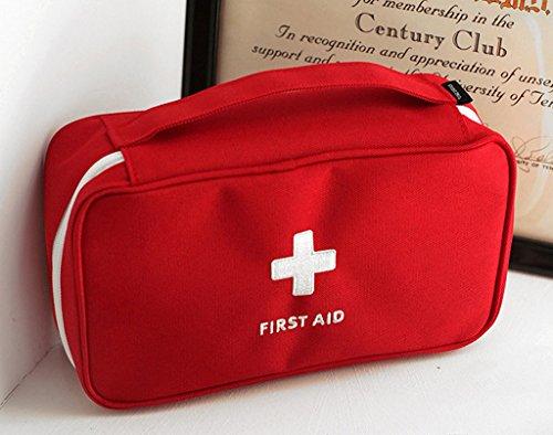 Qearly Polyester Care Plus First Aid Kit Verbandskasten Erste Hilfe Tasche-Rot