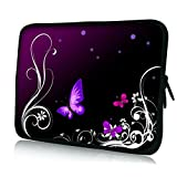 "10"" 10.1"" 10.2"" inch Laptop Notebook Netbook Tablet PC Sleeve Carrying Bag Case Skin Cover Pouch For Acer / Apple / Archos / ASUS / Creative / Dell / Fujitsu / Gigaset / HP / Huawei / Lenco / Lenovo / Microsoft / Motorola / MSI / Nokia / Panasonic / Samsung / Sony / Toshiba, Butterfly Floral Purple pattern"