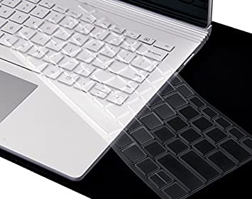 37ad9e21d37ca XSKN Ultra Thin Keyboard Cover for Microsoft Surface Book, Clear TPU ...