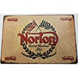 NORTON MOTORCYCLE TIN METAL PLATE SIGN 20 X 30 CM by Buy