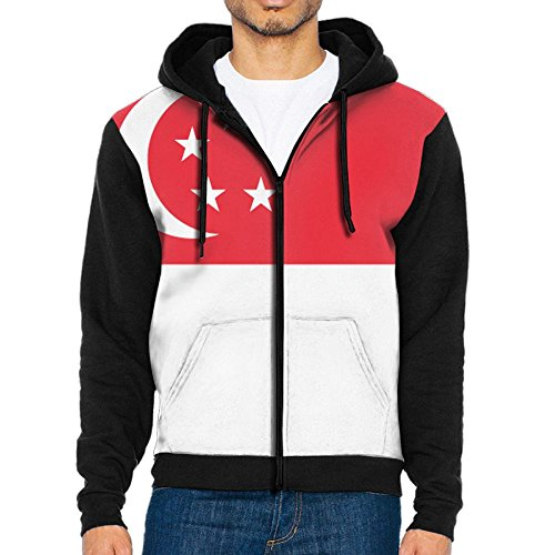 Singapore Flag MenHit Color Casual Active - Shipping Singapore Usps